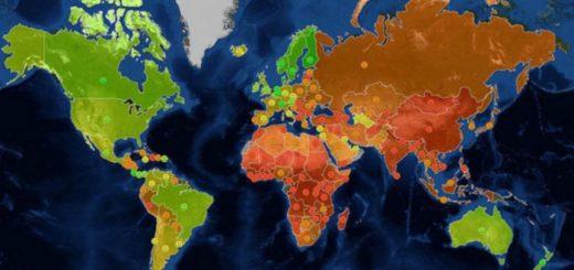 지도로 보는 세계의 통계들