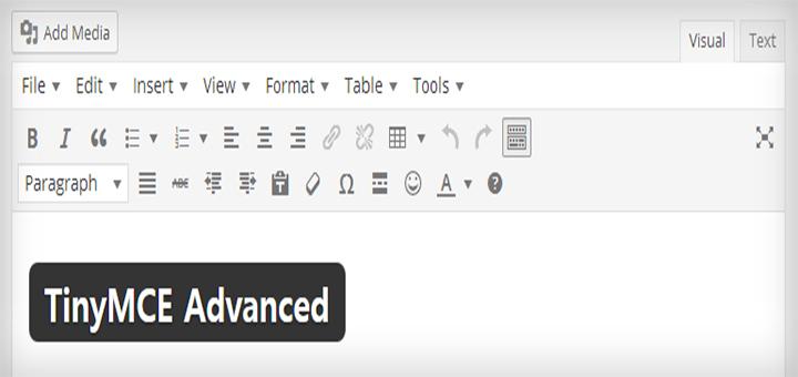 워드프레스 에디터의 최고봉 TinyMCE Advanced